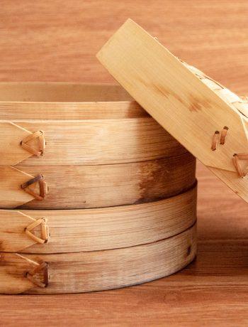 Cestello di bambù