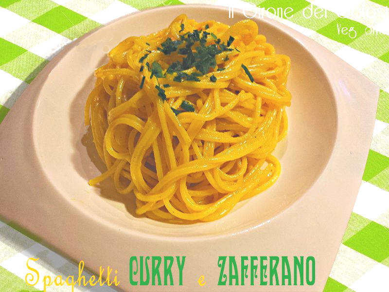 Spaghetti Curry e Zafferano