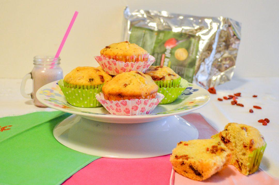 Muffin con bacche di goji