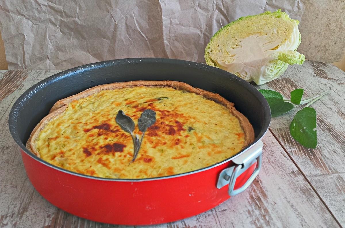 Torta salata con la verza
