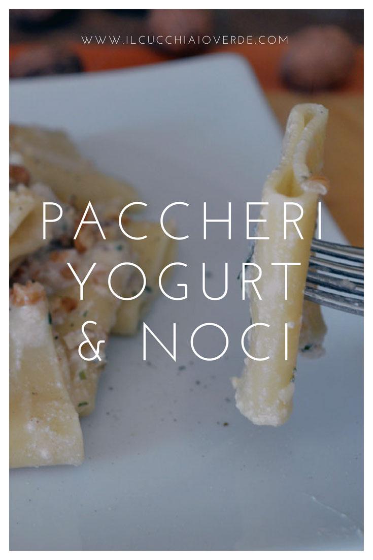 paccheri noci e yogurt