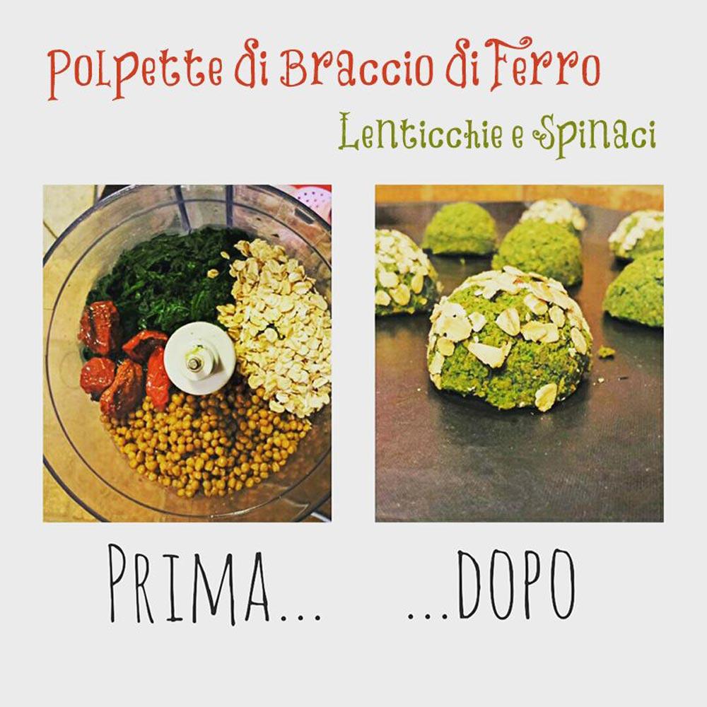 polpette lenticchie spinaci