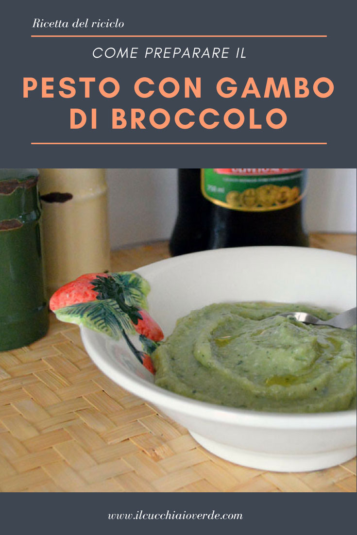 pesto con gambo di broccolo