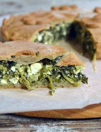 Torta salata spinaci e quartirolo