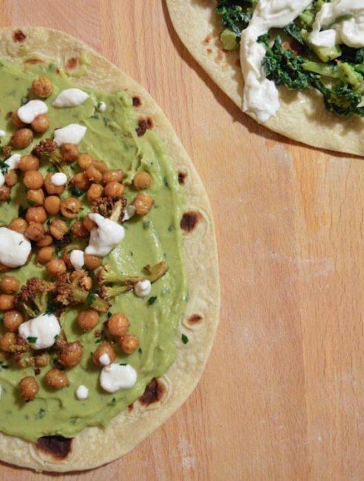 Piadina vegan ceci e avocado
