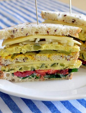 club sandwich con frittata