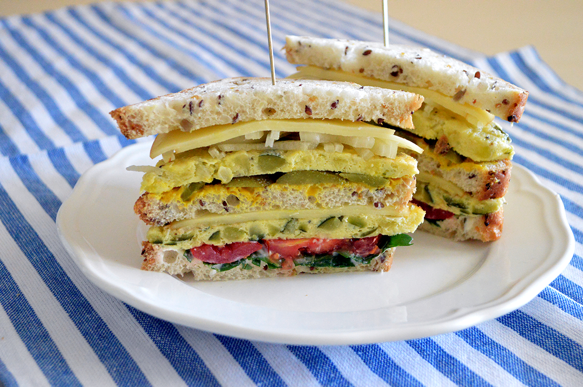 club sandwich di frittata