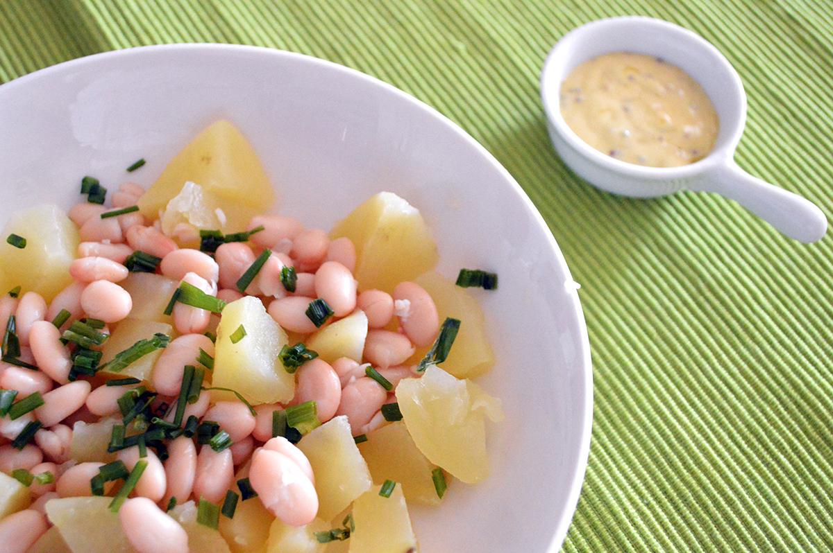 Insalata di patate con fagioli