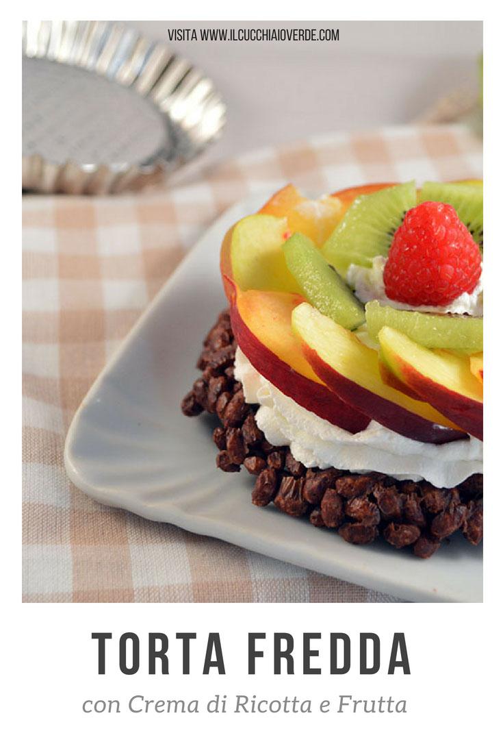 torta fredda con frutta