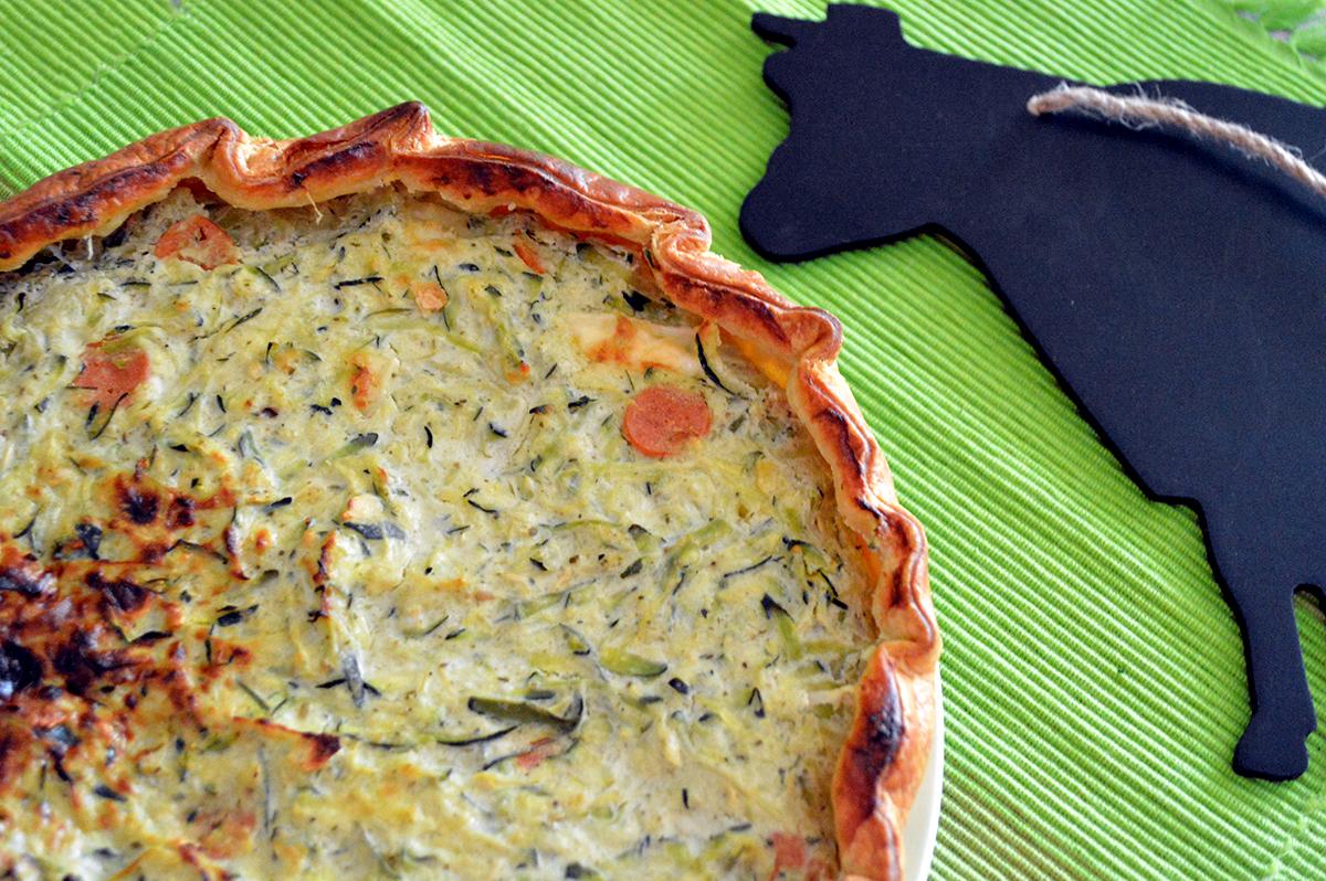torta salata zucchine e brie