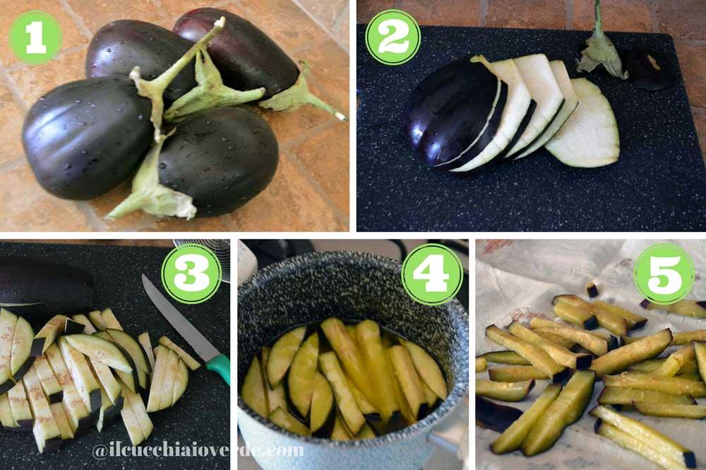 preparazione melanzane sott'olio