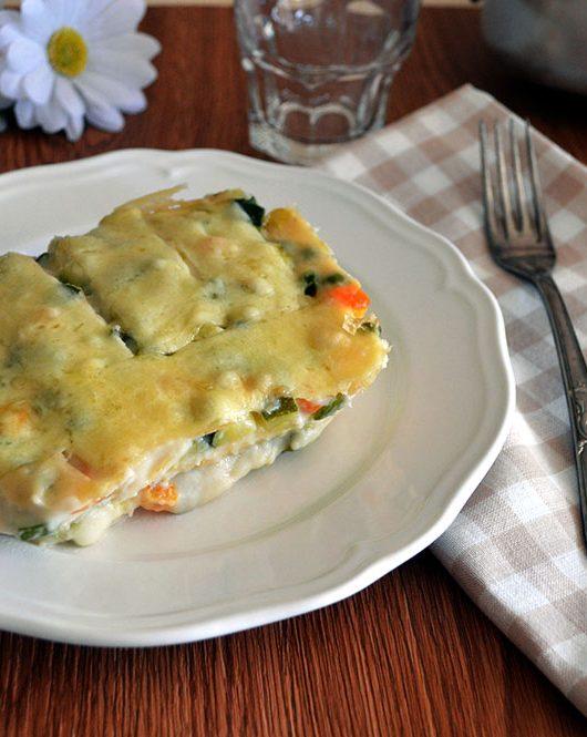 lasagne vegetariane con pancarrè