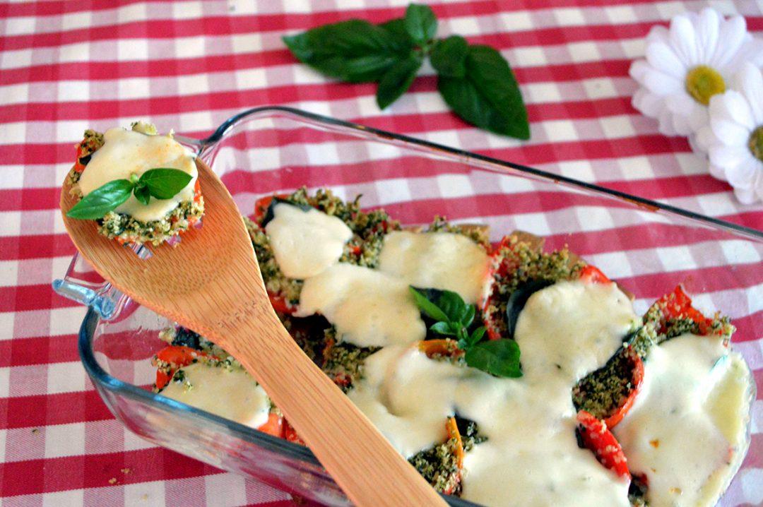 pomodori gratinati con mozzarella