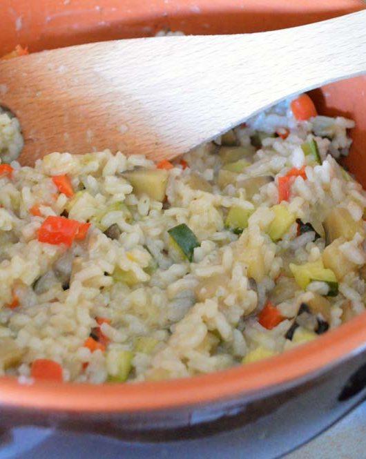 risotto con verdure