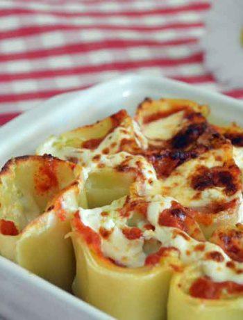 rotolo di pasta zucchine e ricotta