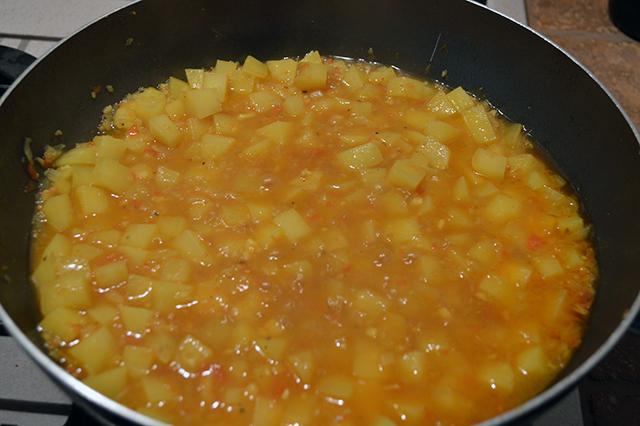 patate e piselli