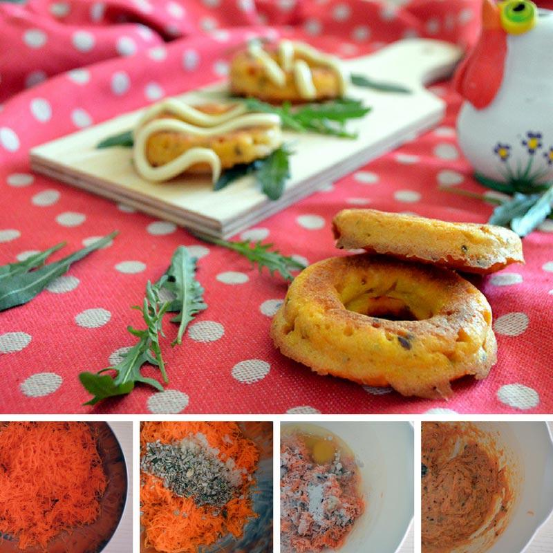 ciambelle salate alle carote