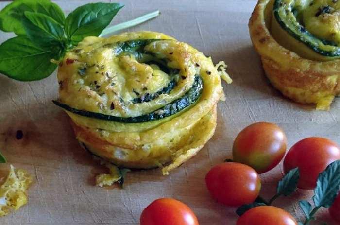 fiori di frittata alle zucchine