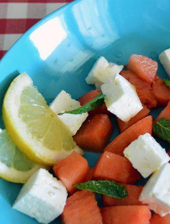 insalata feta e anguria