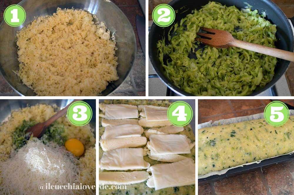 foto preparazione polpettone di zucchine
