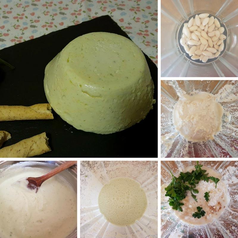 ricetta formaggio alle mandorle