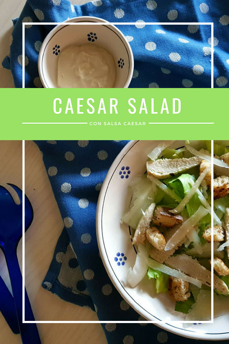 Caesar salad con salsa caesar e quorn