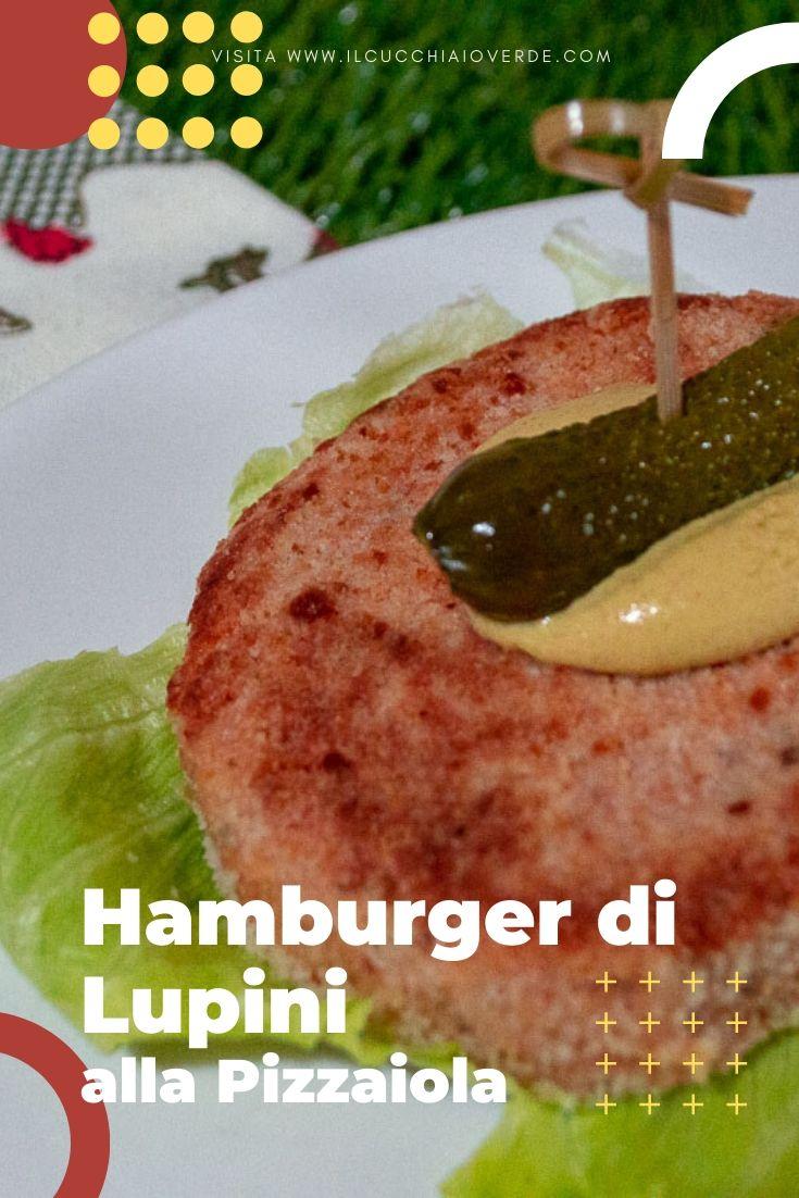 Hamburger di lupini vegan