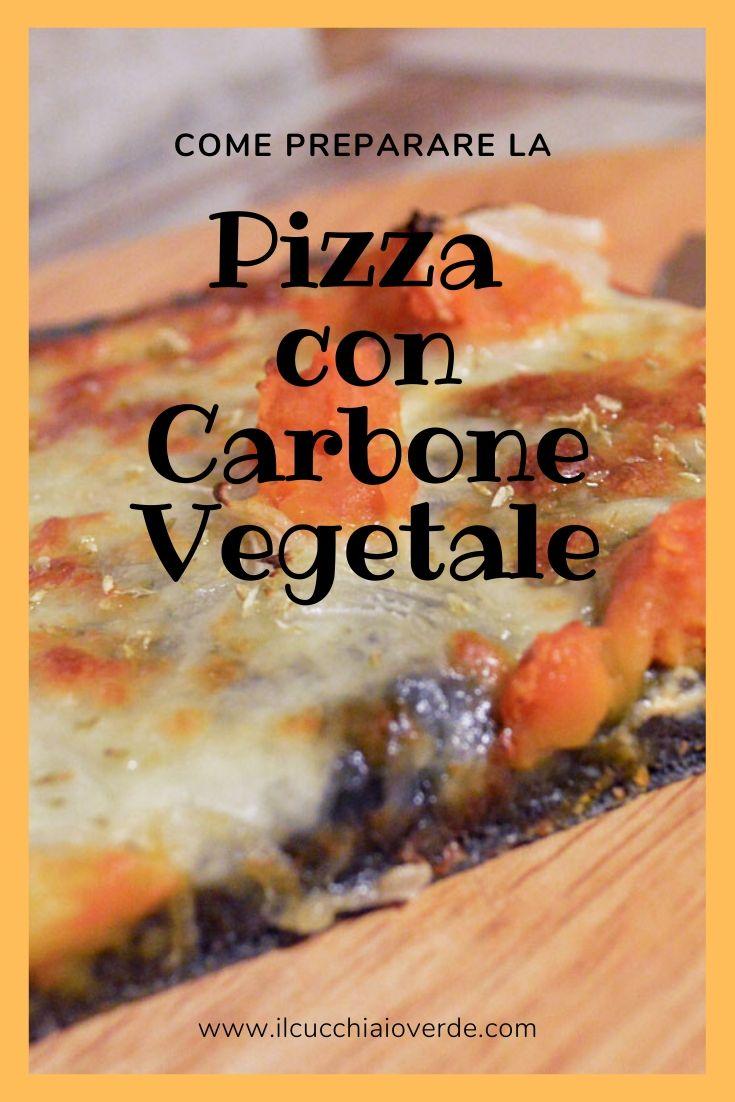 Impasto pizza con carbone vegetale