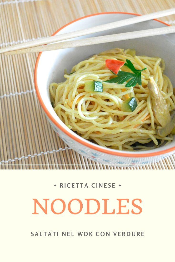 Ricetta Noodles Wok.Noodles Con Verdure Con La Ricetta Cinese Il Cucchiaio Verde