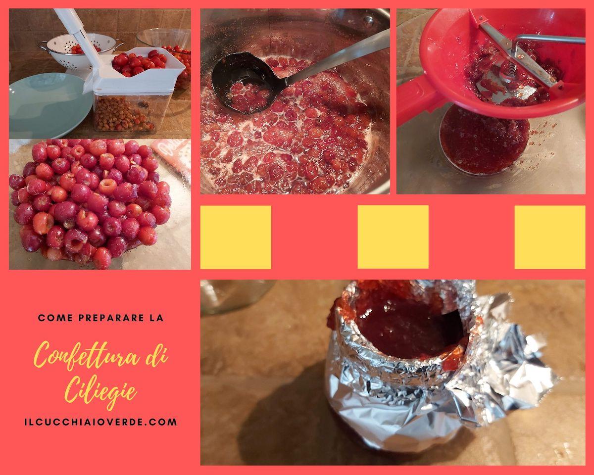 Marmellata di ciliegie fatta in casa