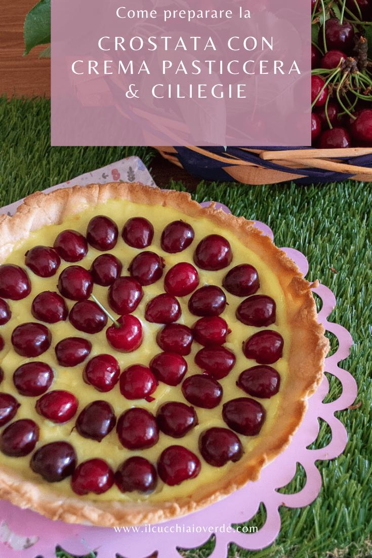 Ricetta crostata di ciliegie e crema